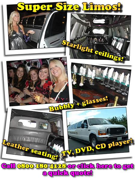 Hummer limos, 4x4 limos for hire in Somerset!